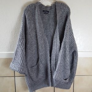 Zara Knit wool/Mohair blend oversized cardigan GUC